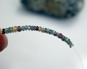 Sapphire Beads Gemstone Sapphires Multi Color Sapphire Beads 2.5 to 3mm Sapphire Beads (about 20 beads) #L