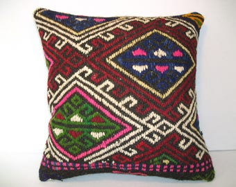 Star Style Pillow,Kilim Pillow,Oriental Pillow, Weaving Pillow Cusion, Wool Pillow Cusion,Kissen Pillow, Throw Pillow, Handwoven Cusion,c-86