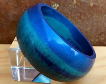 Hand made resin bangle bracelet