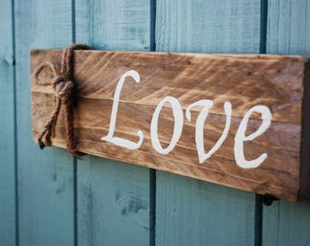 Rustic wooden sign - Gift