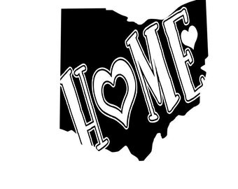 State of Ohio Home OH outline laptop cup decal SVG Digital Download Cuttable Files Cricut Silhouette