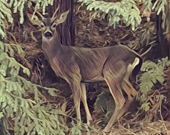 Altered Buck Greeting Card