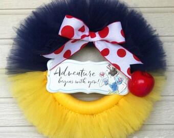 Disney Princess Snow White Tulle Wreath! Everyday Wreath, Gift, Birthday, Party.