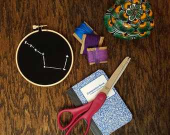 Hand Embroidered Big Dipper Constellation