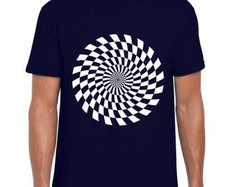 Science Shirt - Kaleidoscopic Sun II Optical Illusion Mens Womens Science Gift Tee
