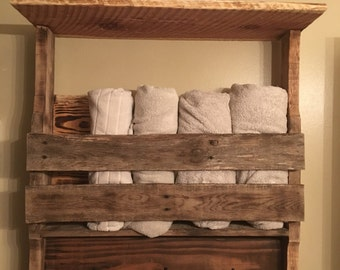 Rustic towel rack