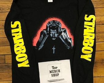 Starboy Black Long Sleeve T-Shirt : XO Pop Up Merch Legend Of the Fall Tour