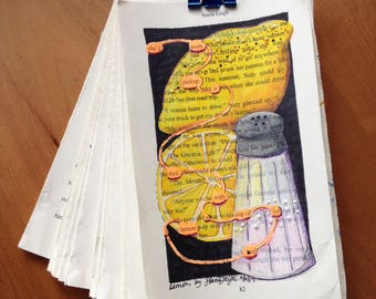 Blackout Poetry - Lemon (Dealing with Blue) - Art and a Donation to AHA