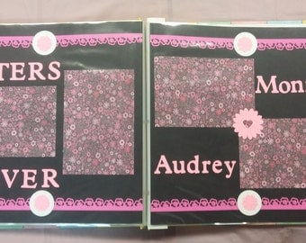 12x12 premade scrapbook pages sisters