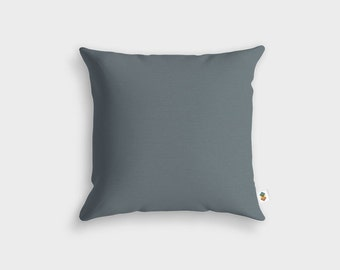 Basic GREY CHARCOAL cushion - Made in France - 45 x 45 cm