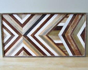Reclaimed Wood Art   Salvaged Wood Decor   Wood Wall Art   Geometric Wood Art   Wood Home Decor   Reclaimed Wood Decor   Rustic Wood Decor