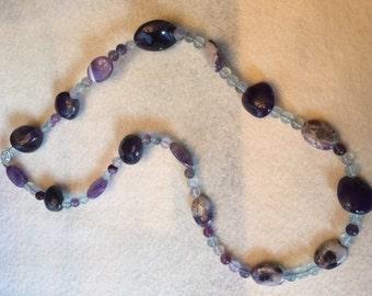 Purple Stones with Purple & White Accents