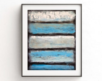 Printable art wall decor blue white print striped instant download digital print abstract painting art modern art print artwork home decor
