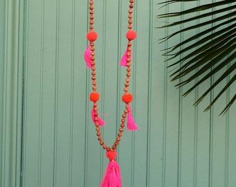 BALI necklace Fuchsia