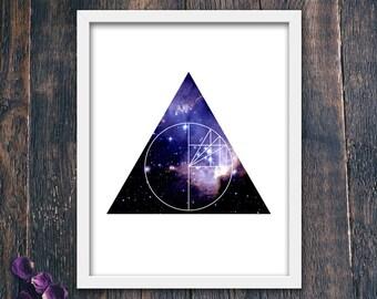 Celestial Arrow Geometric Print, Star PRINTABLE, Modern Abstract Art, Minimalist Wall Art, Contemporary Office Art (#12333b)