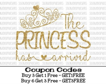 The Princess Has Arrived svg Baby Girl svg Hello World New Baby svg Newborn svg PNG Files svg files for Silhouette svg files for Cricut girl