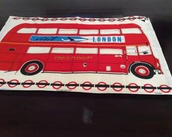 Vintage Tea Towel / London Transit