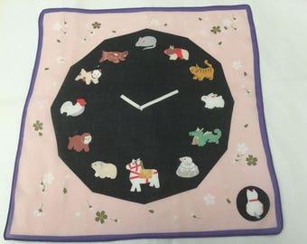 Vintage Handkerchief / Chinese Zodiac