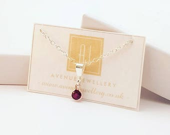 Real Ruby Pendant 0.14ct 3mm in 925 Sterling Silver