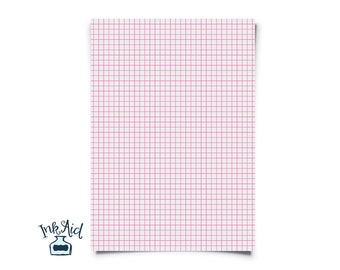 Print Your Own | COLORED GRID Graph Paper | 1/4 Inch Squares | PDF  Colored Writing Paper