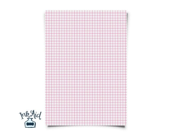 Print Your Own  Colored Grid Graph Paper   Inch Squares  Pdf