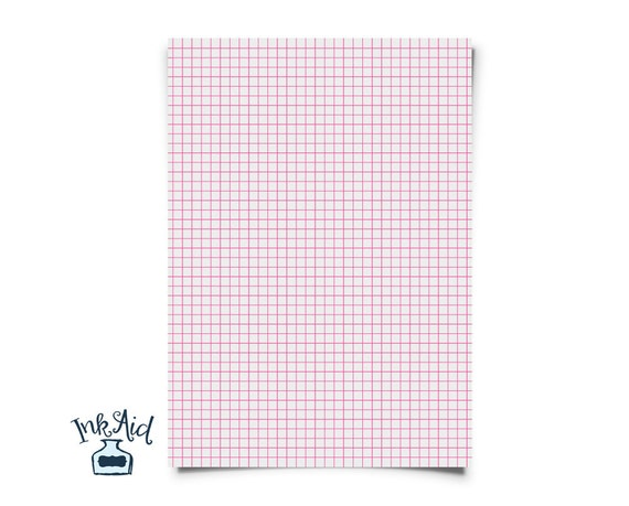 Print Your Own | Colored Grid Graph Paper | 1/4 Inch Squares | Pdf