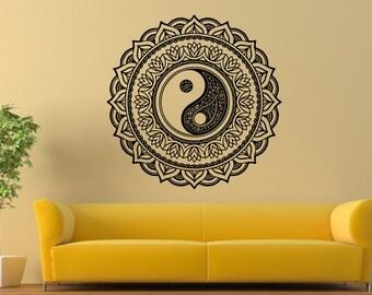 Mandala vinyl wall decal home decor a55