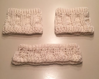 Irish Sea Crochet Boot Cuffs and Ear Warmers Set