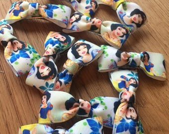 Snow White single bow hair clips