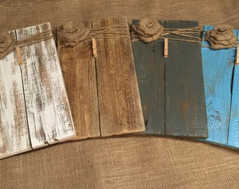 Rustic Wooden Picture Frame / Note Holder