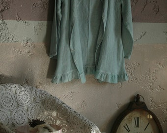 Grey linen cardigan and top set available in variety of colors, hand colored