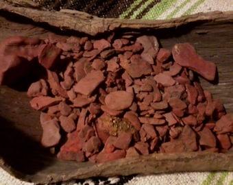 Natural Pigment Ochre Stone Iowa Primitive Paint Decoration Healing Stone 4 oz Native Paint Aboriginal