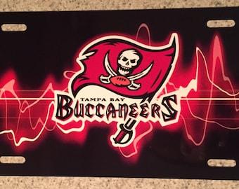 Unique Tampa Bay Buccaneers License Plate
