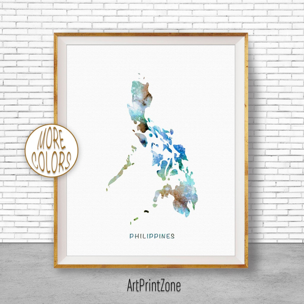 Moving Wall Art philippines map, philippines print, philippines art print