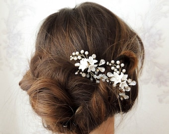 Bridal hair pins Rhinestones Hair Pins Wedding Hair Pins Pearl Hair Pins Crystal hair pins Gold hair pins bridal hair set Bridal Headpiece