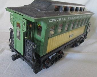 1981 Jim Beam Passenger Train Car Liquor Decanter Central Railroad of New Jersey 1099 15 1/2 in Long Empty Decanter