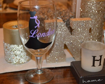 Brides Maids Personalized Wine Goblet