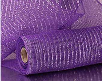 """Purple 21"""" x 10 yrds poly deco mesh"""