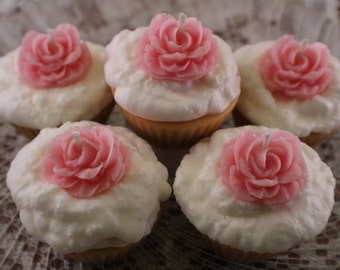 Wedding Favor Cupcake Candles, Cupcake Candle Wedding Favors, Cupcake Candle Party Favors, Shower Favors, Candles