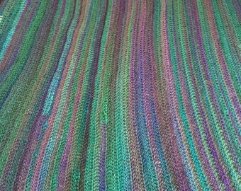 DISCOUNTED large colorful crochet blanket