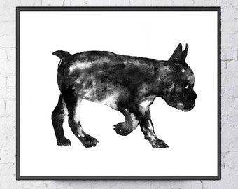 Bulldoge Art print  Bulldoge Wall decor Bulldoge watercolor print Bulldoge poster wall decor Bulldoge poster home decor