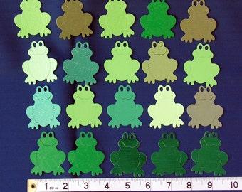 Sizzix die- cuts ...... frogs x 20