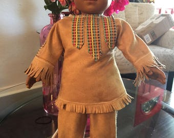 Buckskin bou outfit  made of suede cloth and trim