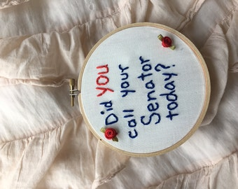 Did You Call? Embroidery