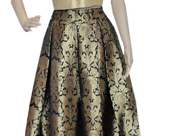 Silk Long Skirts with crop top