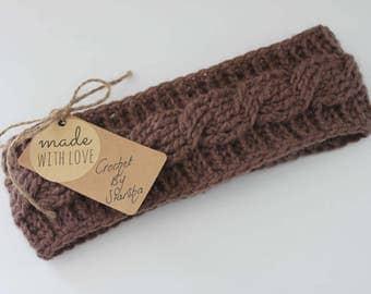 Handmade - Made to Order - Crochet Cable Headband