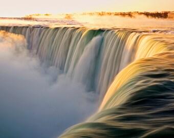 Niagara Falls, Horseshoe Falls at Sunrise, Ontario, Canada