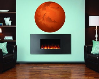 Mars Full Color Decal, Planet Mars Full color sticker, wall art cn 105