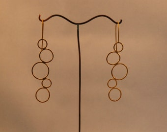 Silver Gold Earring