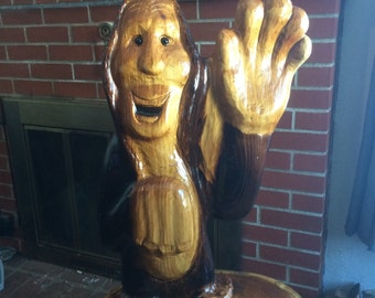 Baby Bigfoot/ sasquach carving